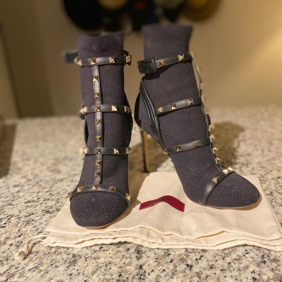 Valentino Rockstud Sock Booties